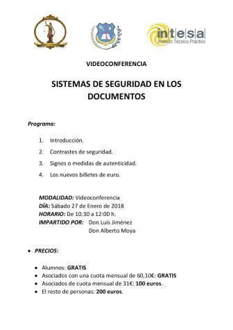 Videoconferencia ''Sistemas de Seguridad en los Documentos''